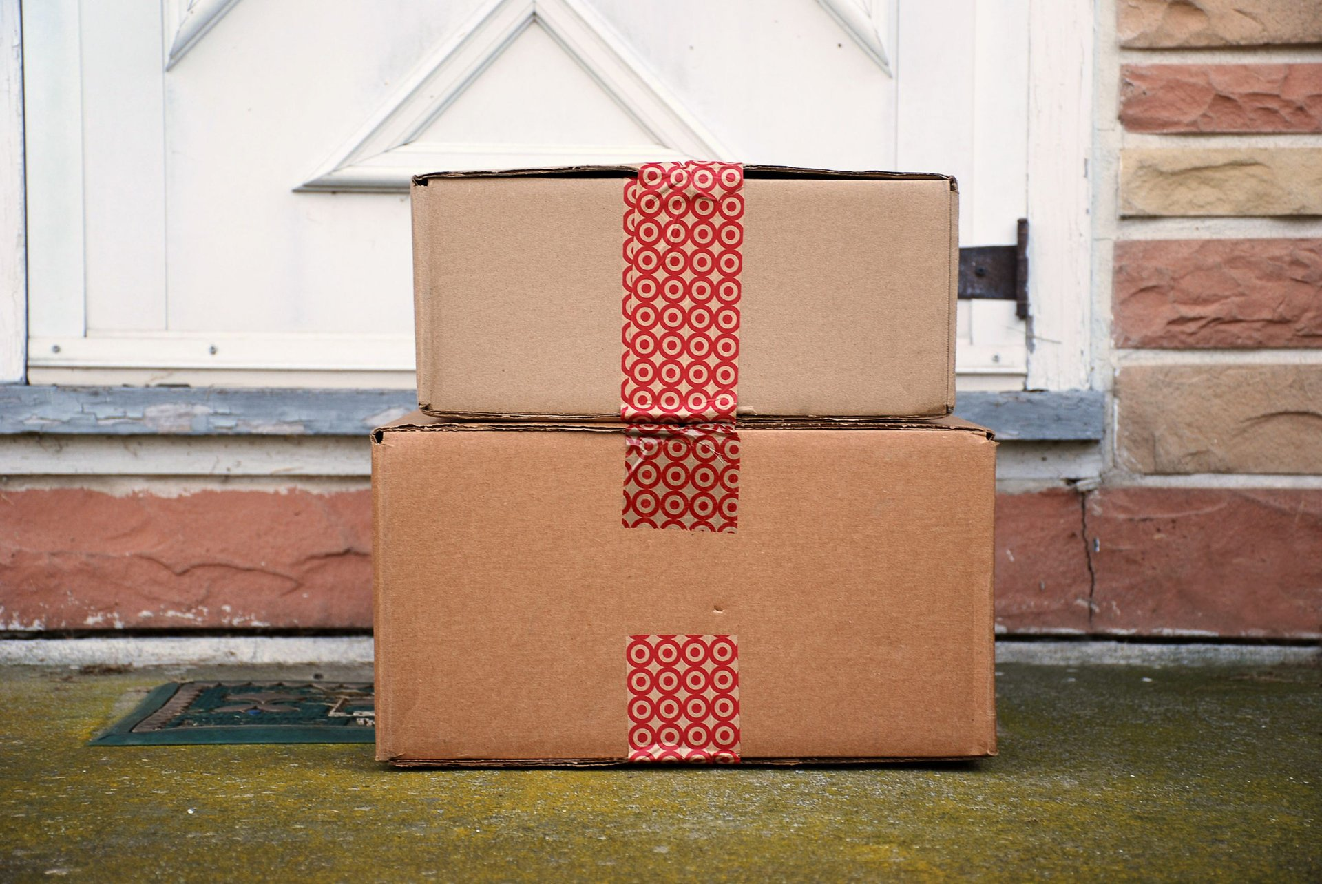 Target packages delivered to a front door