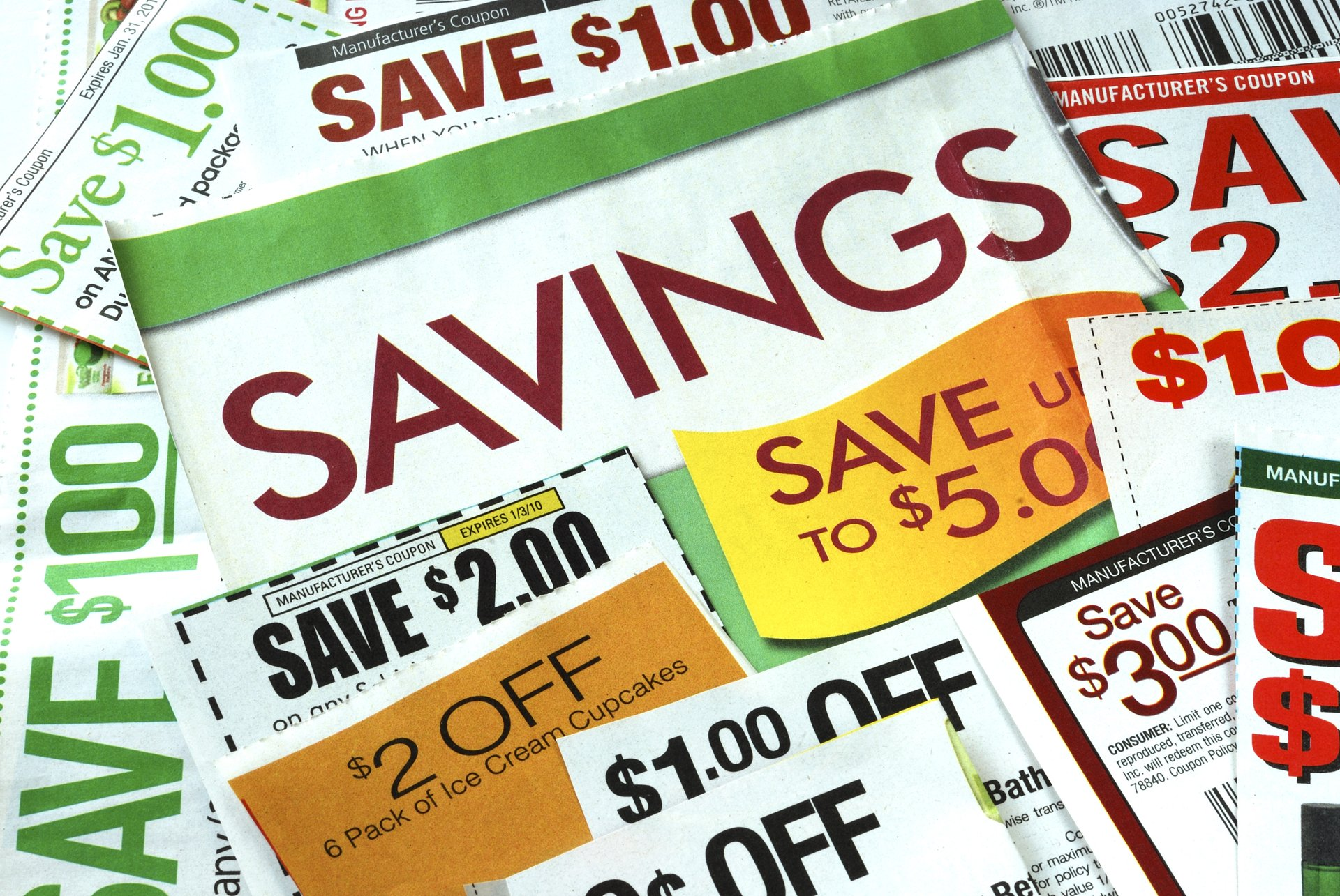 A collection of coupons