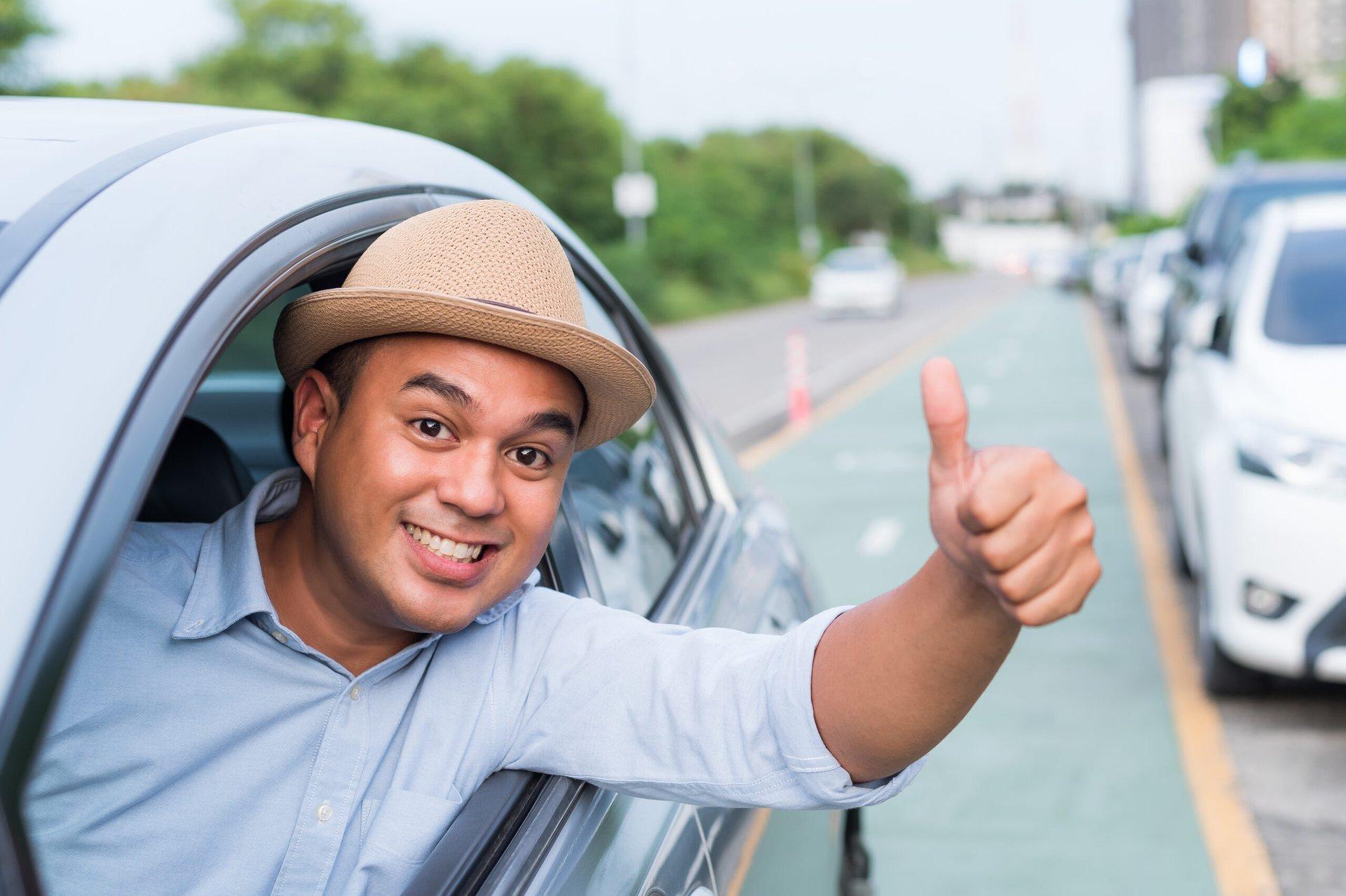 Happy driver