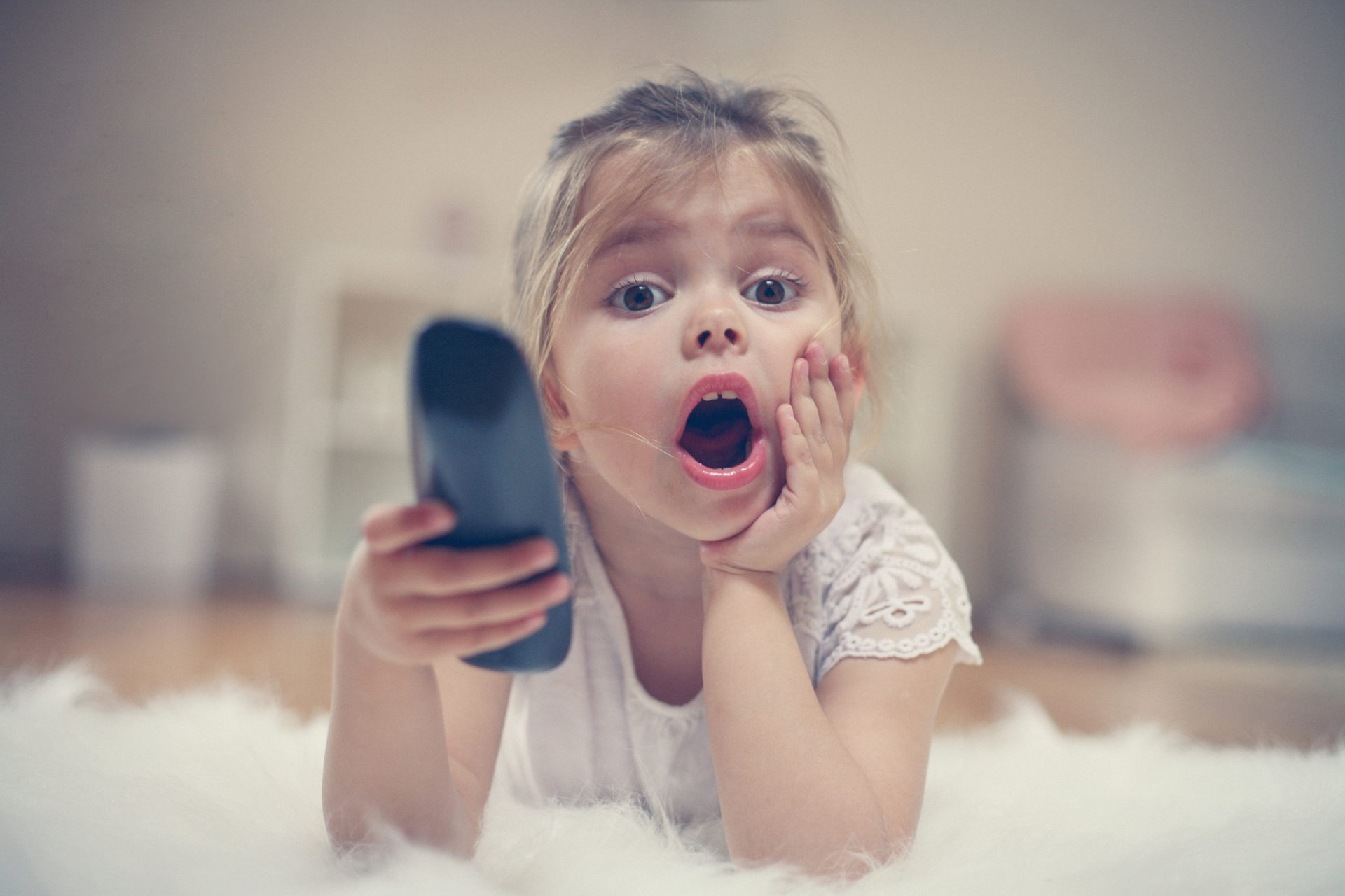 Girl with remote