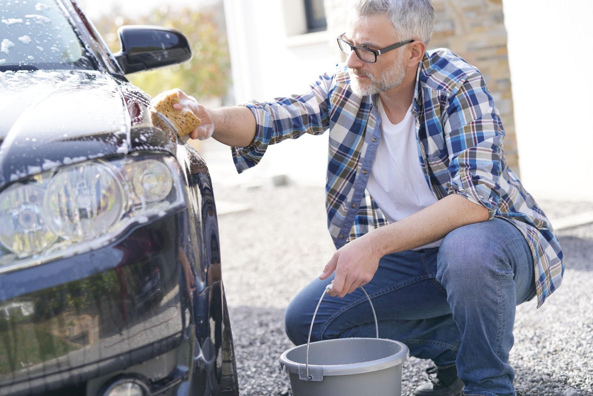 Washing a car at home