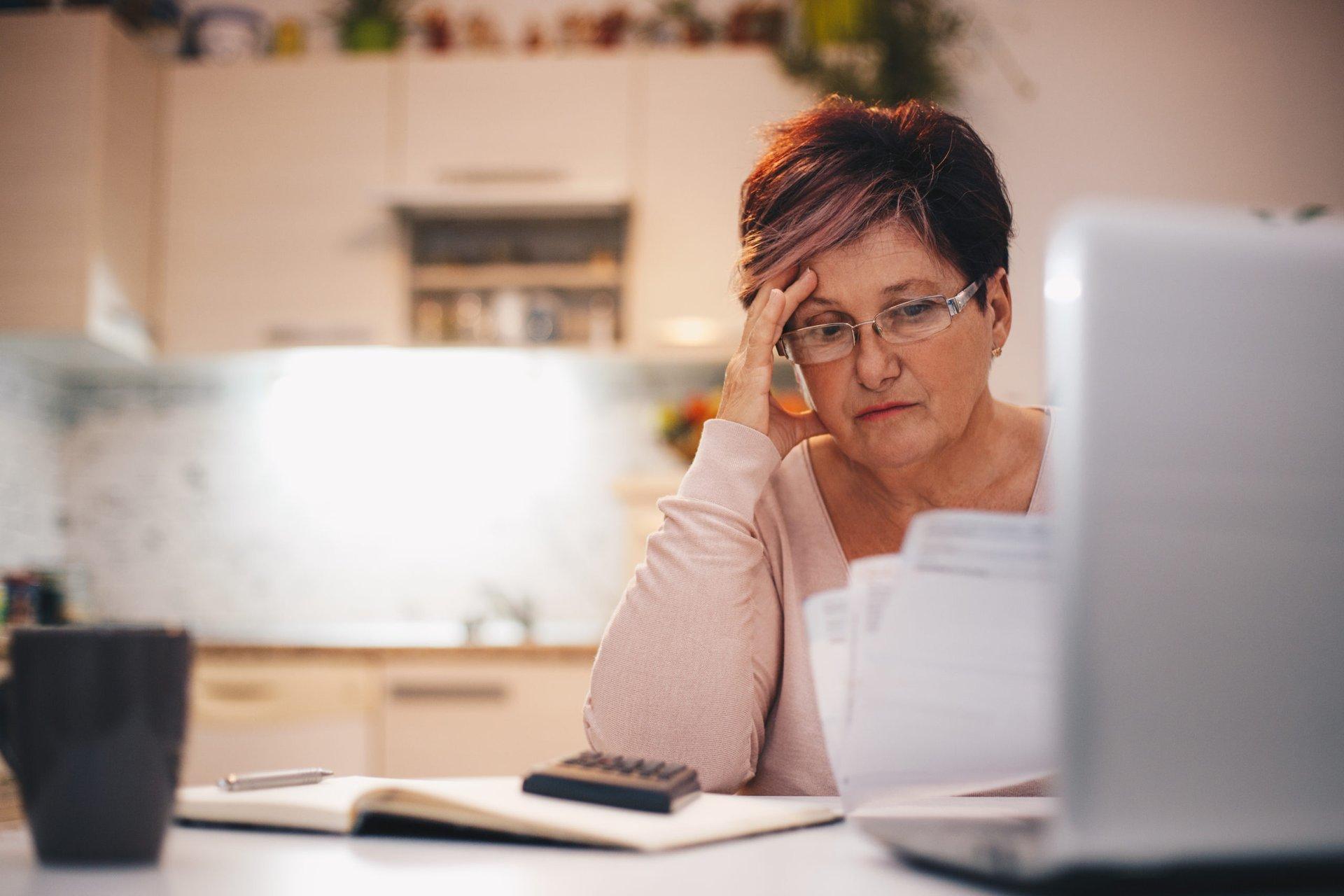 retiree worried about finances