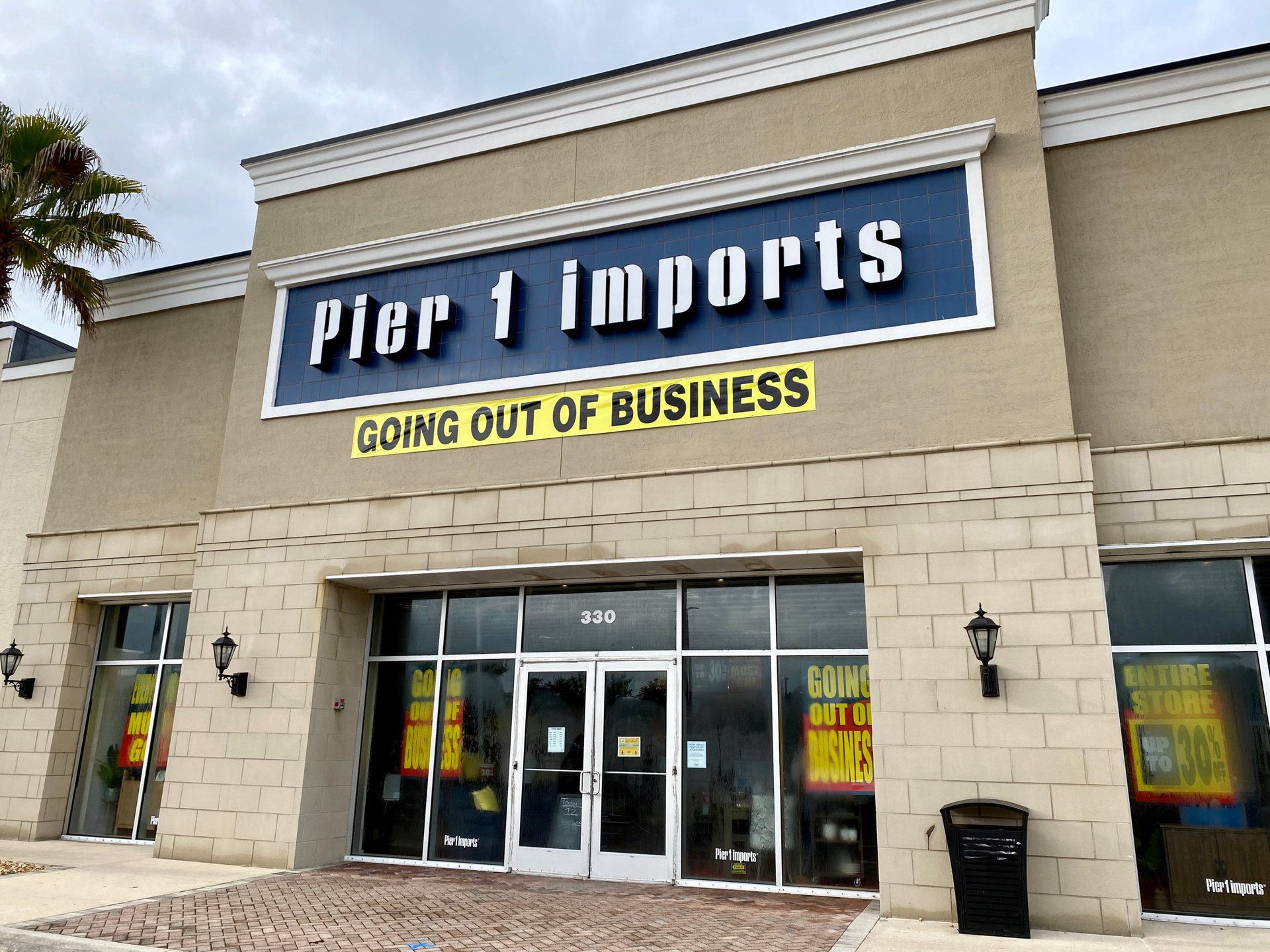 Closing Pier 1 Imports store