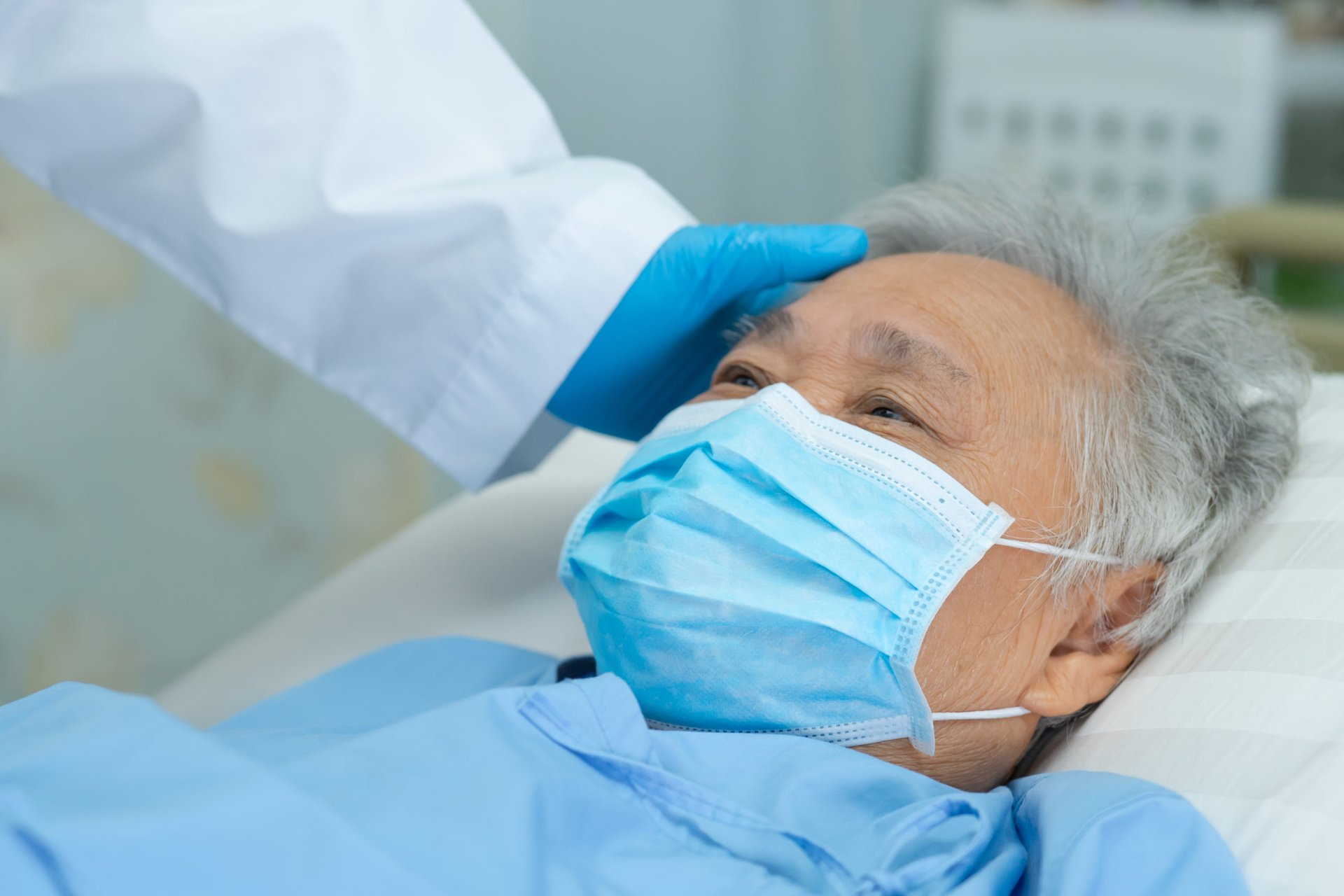 Senior hospitalized with COVID-19