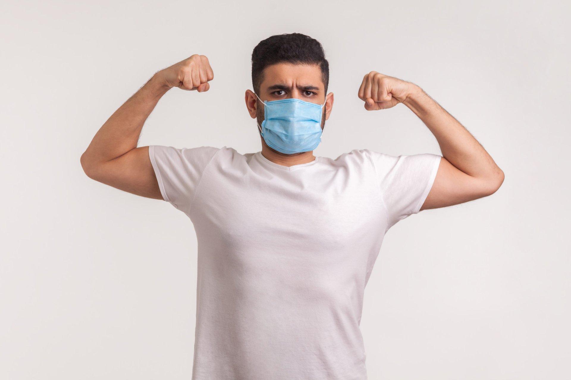 Man with coronavirus immunity