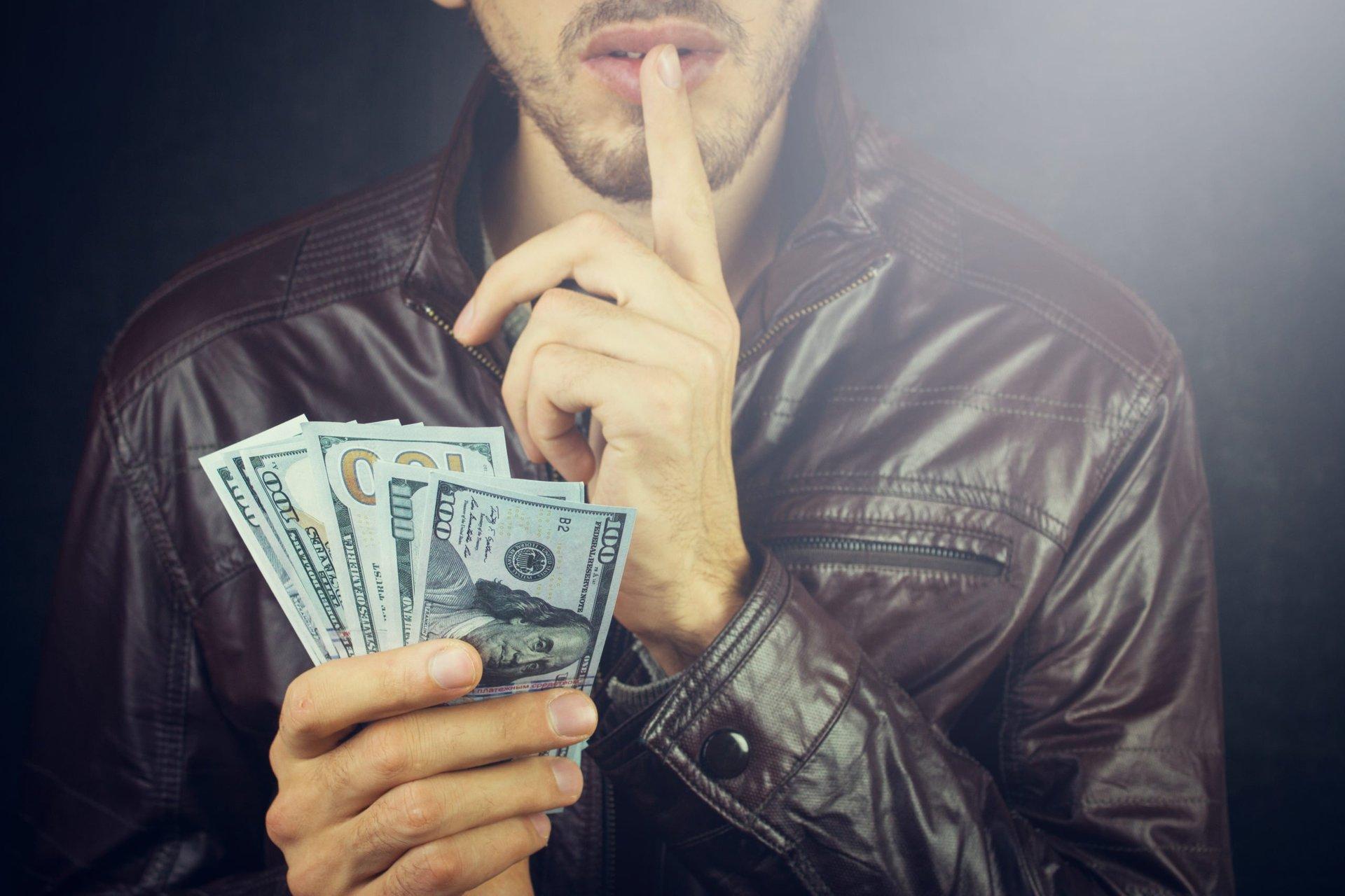 Man with hush money