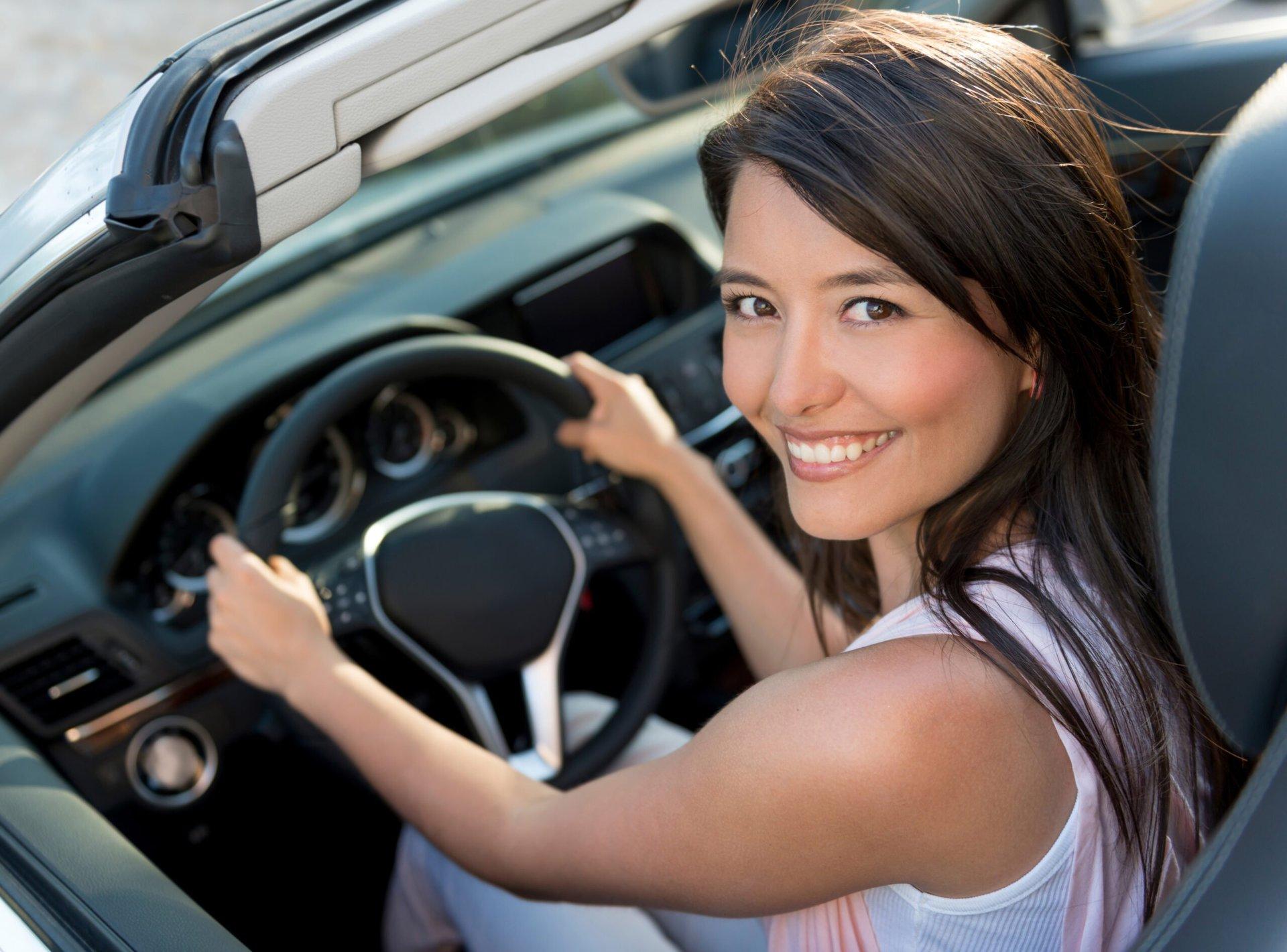 Smiling female driver