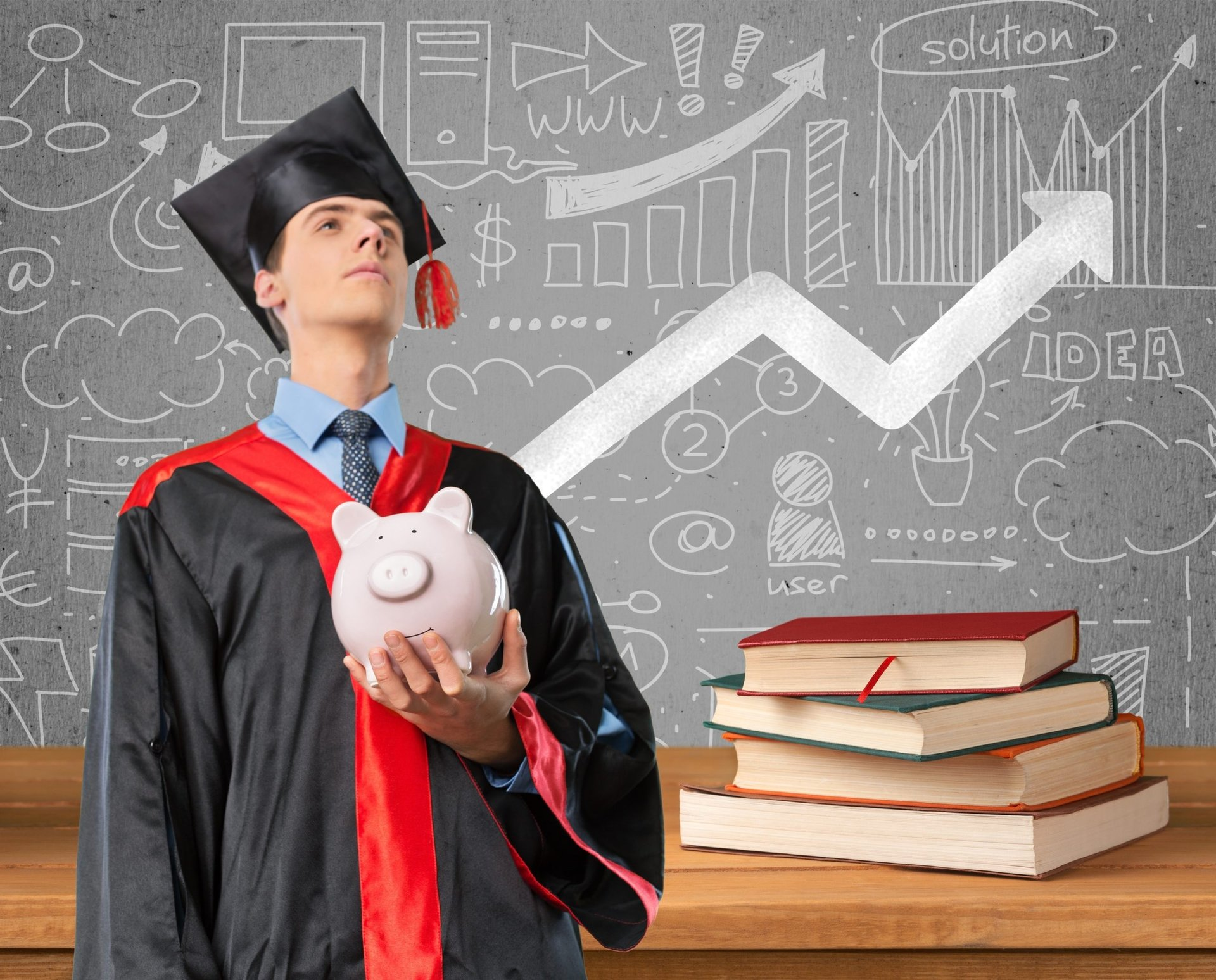 Graduate thinking about student loans and savings