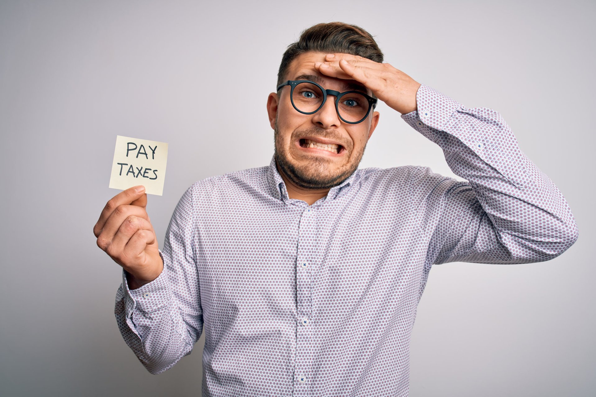 Man worried about taxes