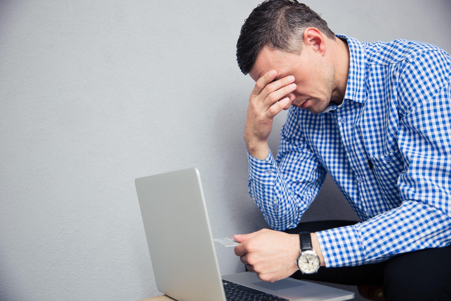 Man worried about data breach