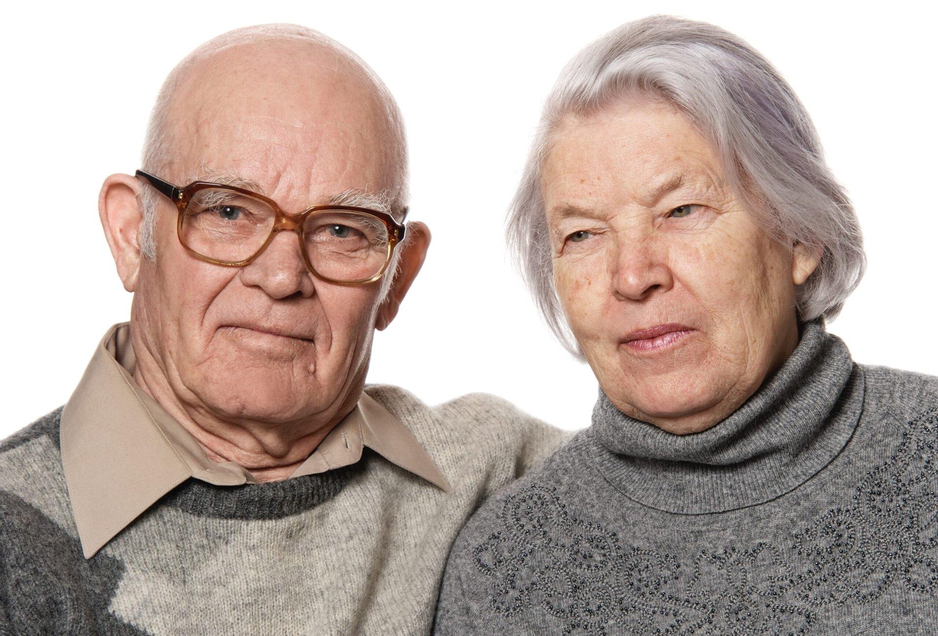 Older senior couple