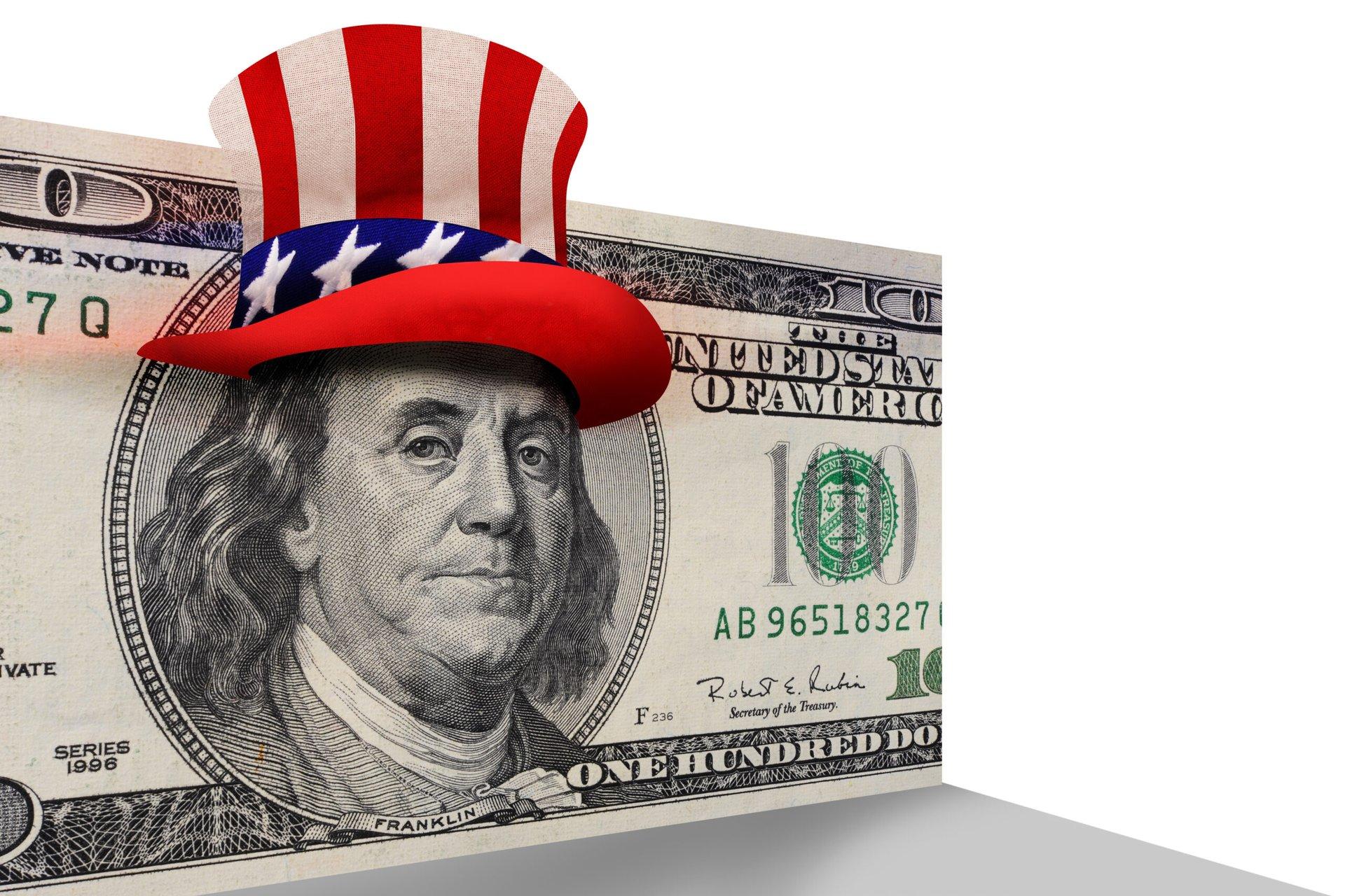 Ben Franklin on a $100 bill