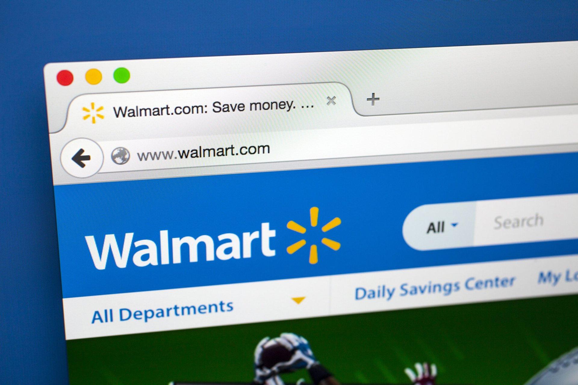 Walmart website