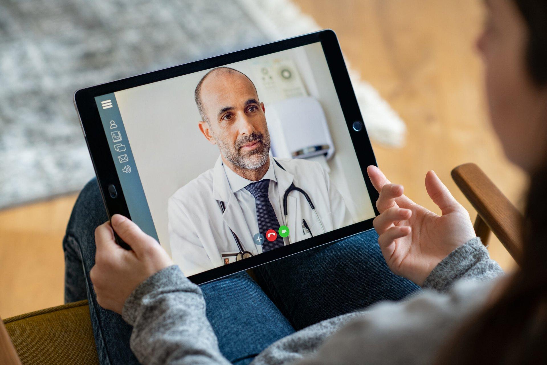 Doctor on a digital health platform