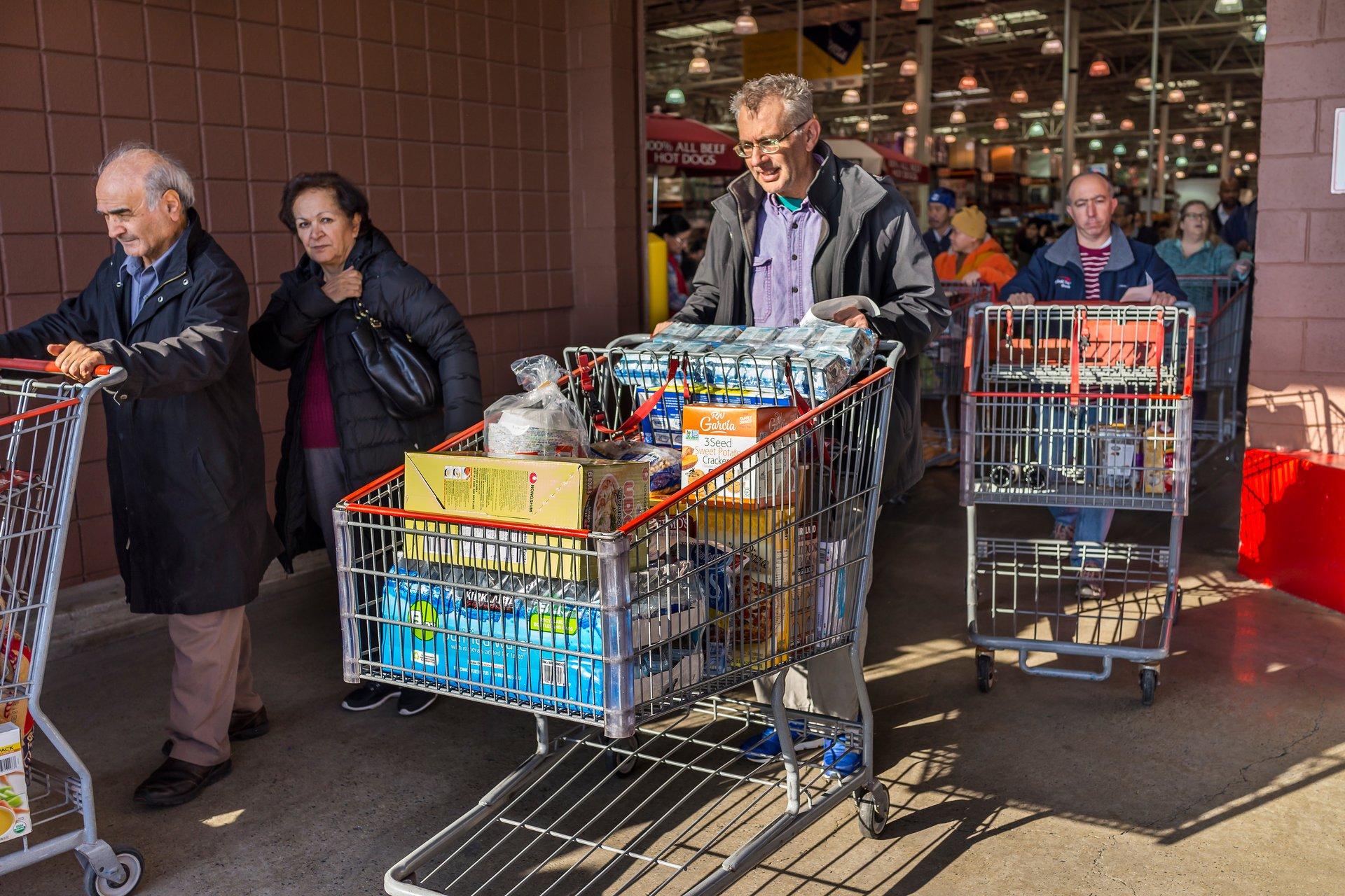 Senior Costco shopper