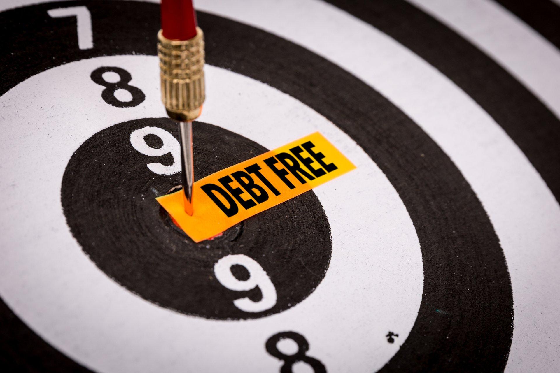 "A ""debt free"" bullseye"