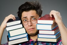 Man with too many books