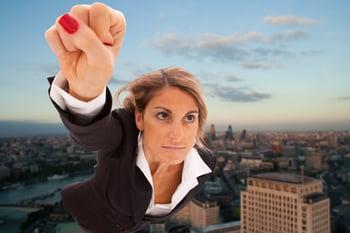 Super businesswoman