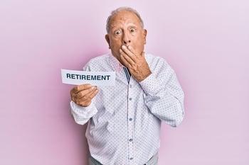 Man making a retirement mistake