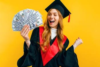 college graduate with money