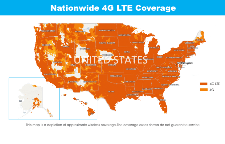 FreedomPop Coverage Map