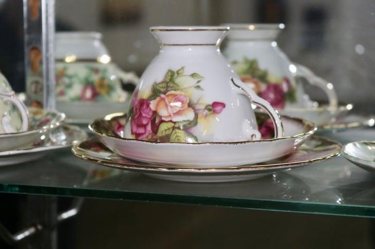 Antique floral bone china