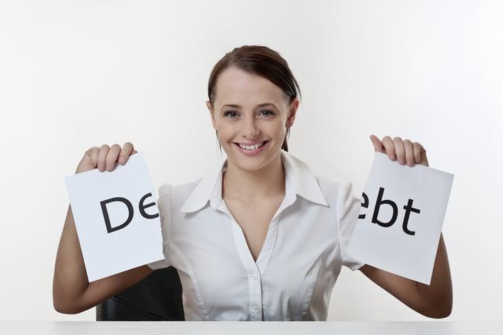 Woman destroys debt