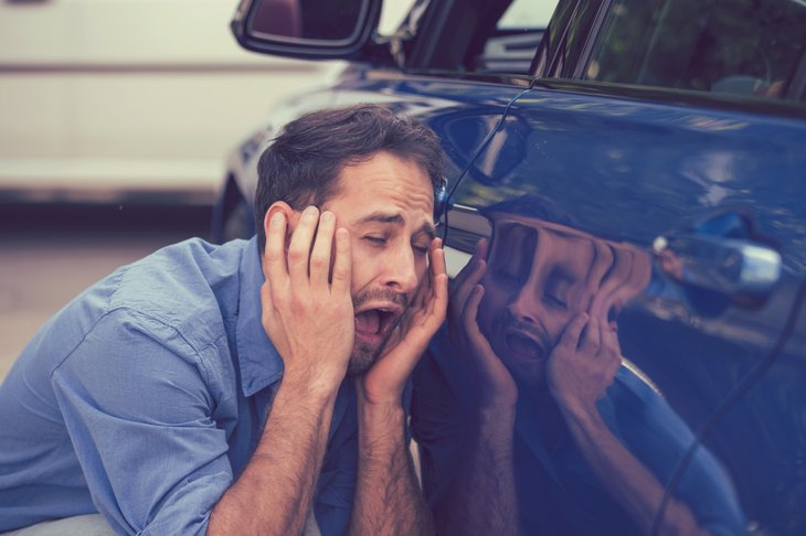 Man unhappy with car