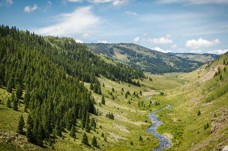 View from the Cumbres & Toltec Scenic Railroad