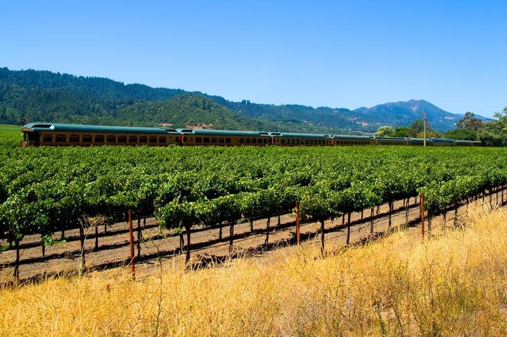 The Napa Valley Wine Train in California