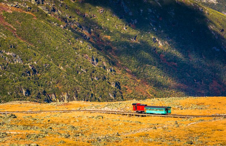 The Mount Washington Cog Railway in New Hampshire