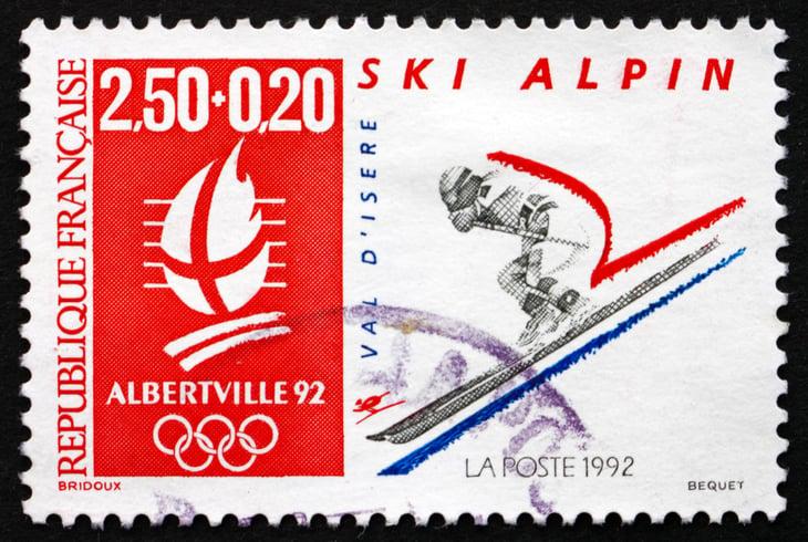 Albertville, France Olympic stamp