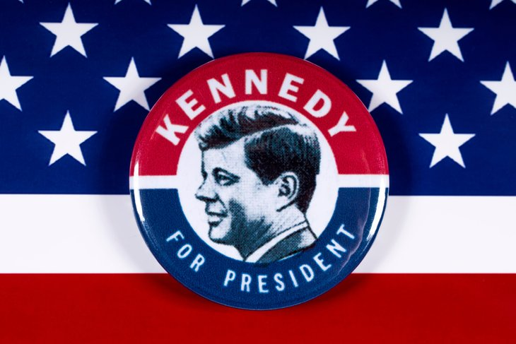 John F. Kennedy presidential button