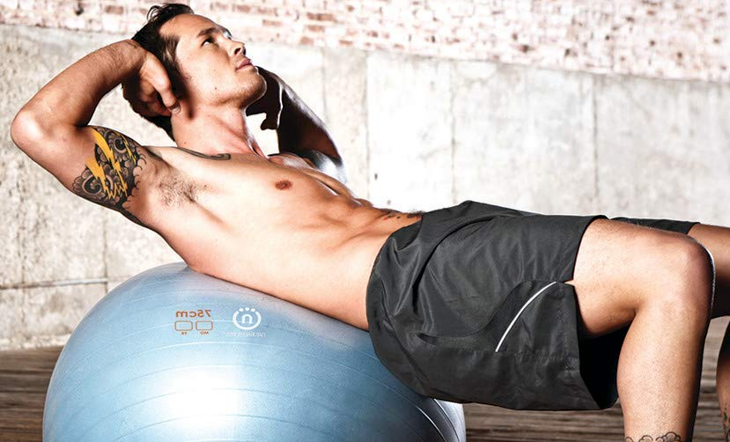 Exercise Ball fit man sit ups Natural Fitness