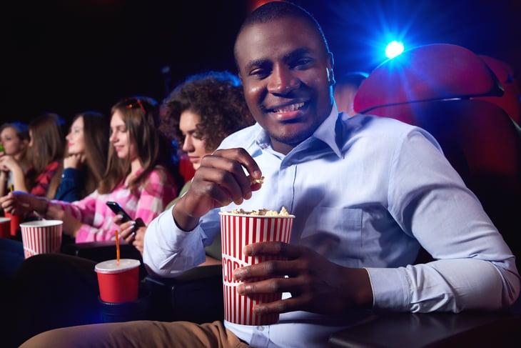 Man at the movies