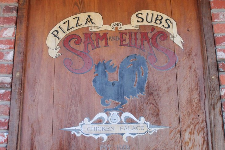 Sam and Ella's Pizza and Subs sign