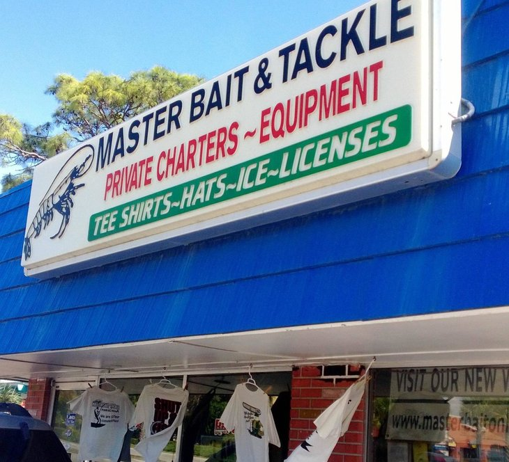 Master Bait and Tackle store with sign