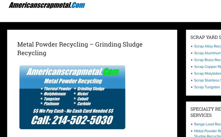 American Scrap Metal web site