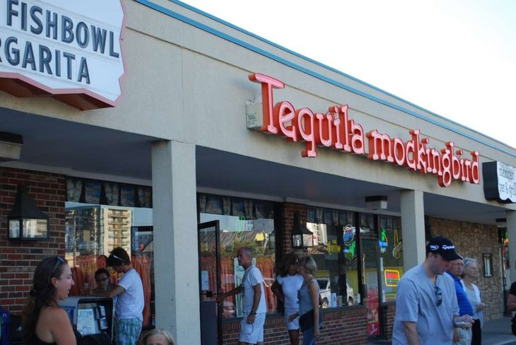 Building with Tequilamockingbird sign