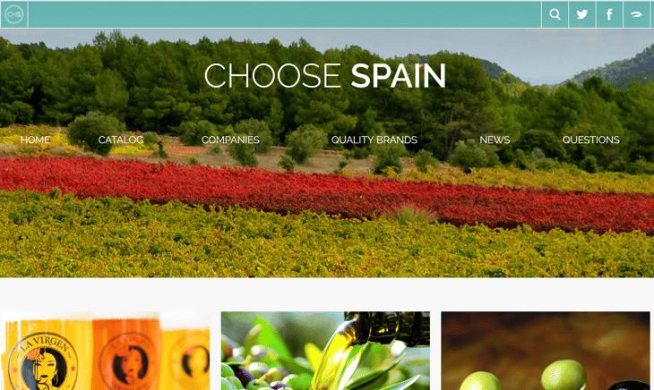 Screen shot of ChooseSpain.net site.