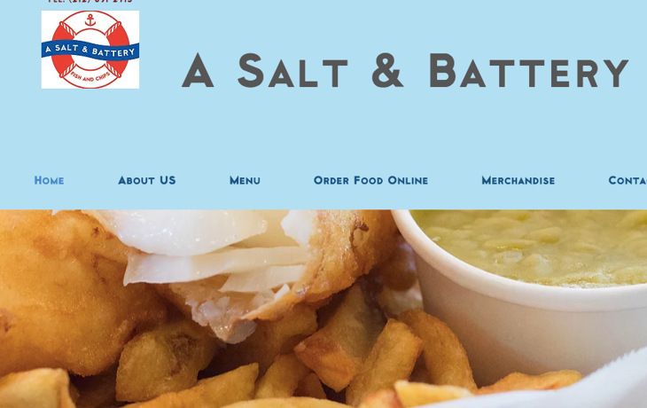 Screen shot from A Salt and Battery restaurant site