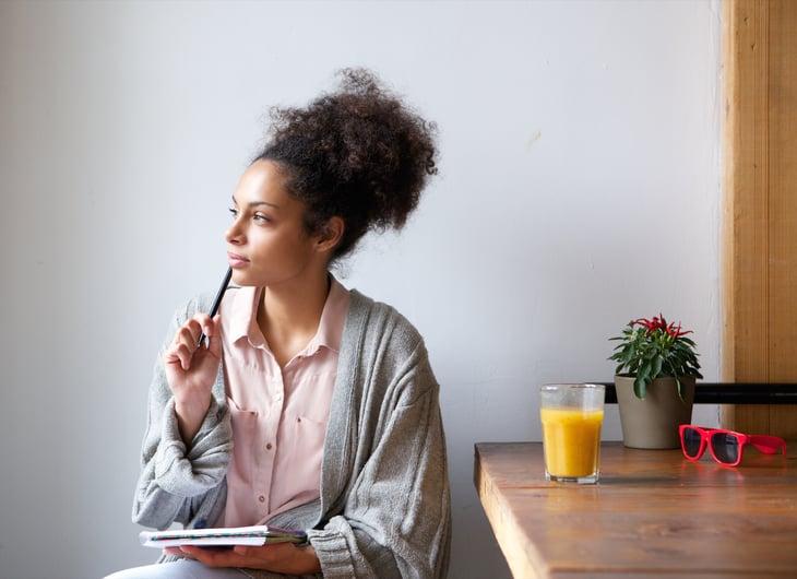 Thinking woman