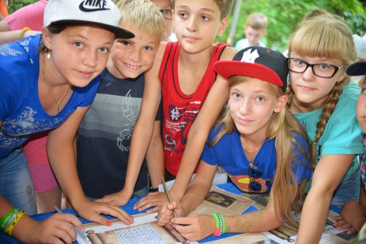 Kids at camp.