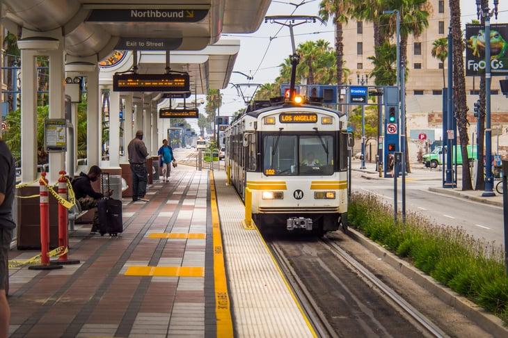 Long Beach metro stop