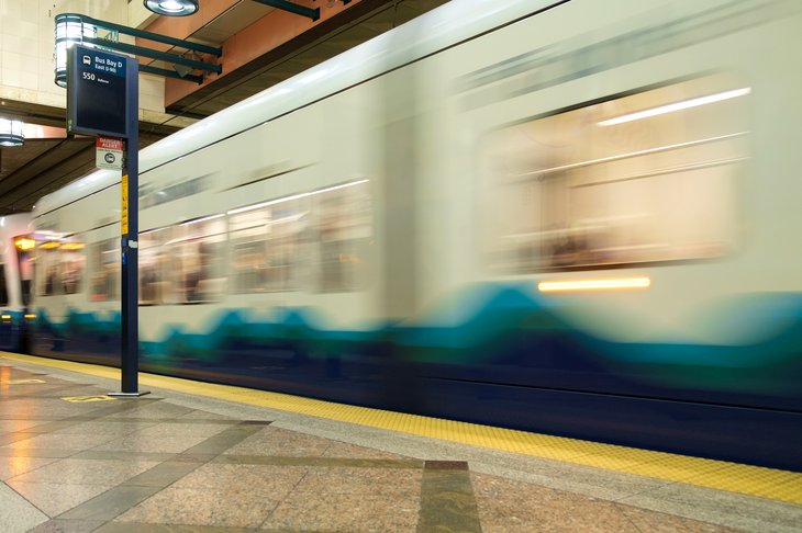 Seattle light rail, in motion