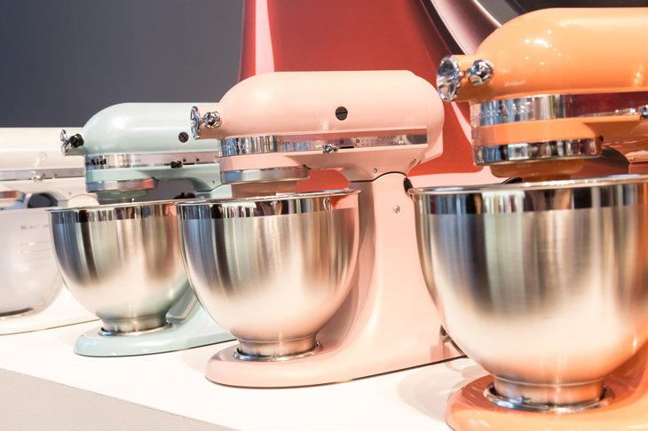 Line of KitchenAide mixers