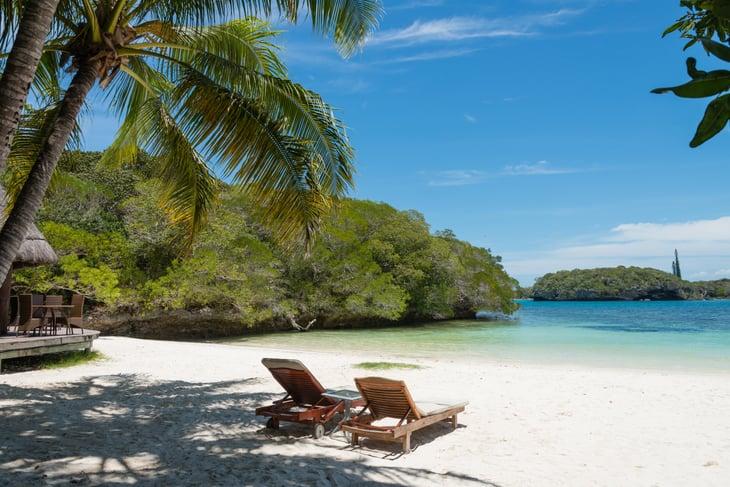 Kanumera Beach on the Isle of Pines in New Caledonia.