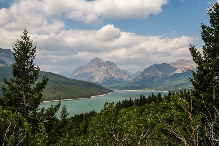 Waterton-Glacier International Peace Park spans Alberta, Canada and Montana.