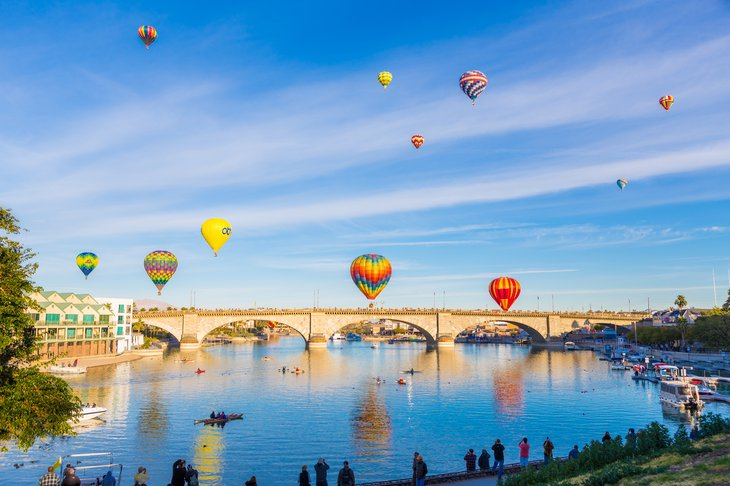 Lake Havasu City supports activities such as boating, swimming and fishing - as well as biking, ballooning and golfing.