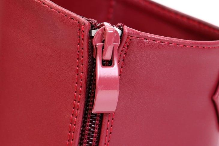 Purse zipper detail.
